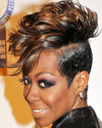 Swell Short Mohawk Hairstyles For Black Women In Society Women Hairstyles Hairstyles For Women Draintrainus
