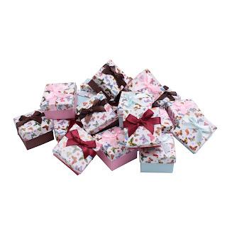 """Картонная подарочная коробка для бижутерии и ювелирных изделий,под кольцо """"Бабочки""""box5"""