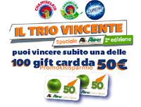 Logo Il Trio Vincente speciale Alì e Aliper (2° edizione) : vinci 100 Gift da 50€