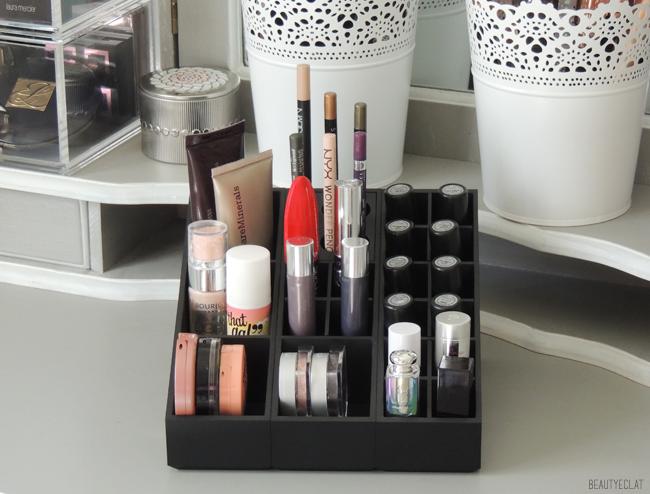 revue avis test uniq organizer rangement maquillage makeup