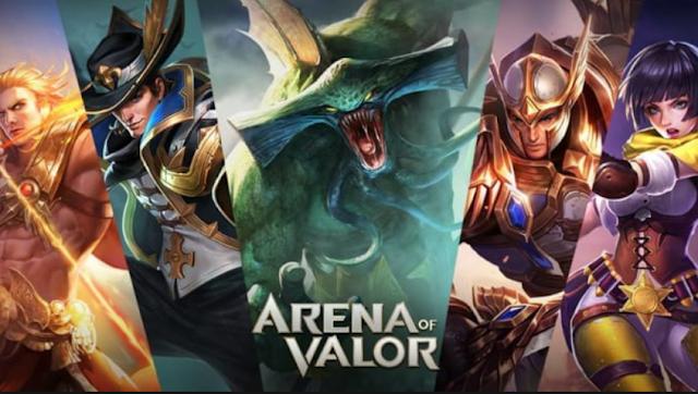 Selain Mobile Legend: Bang Bang, anda juga bisa memainkan game MOBA Arena of Valor (AOV) di ponsel Android.
