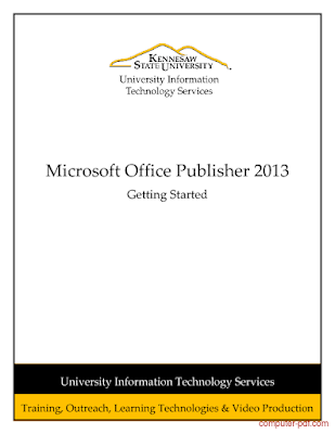 Microsoft Office Publisher 2013 free PDF