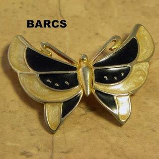Barcs butterfly brooch