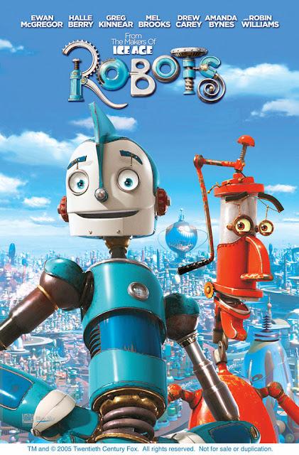 Cartel en inglés de la película Robots