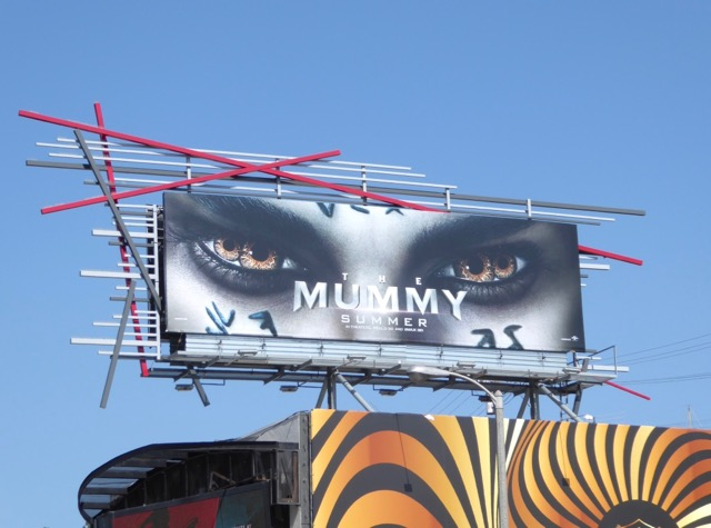 Mummy 2017 movie reboot billboard