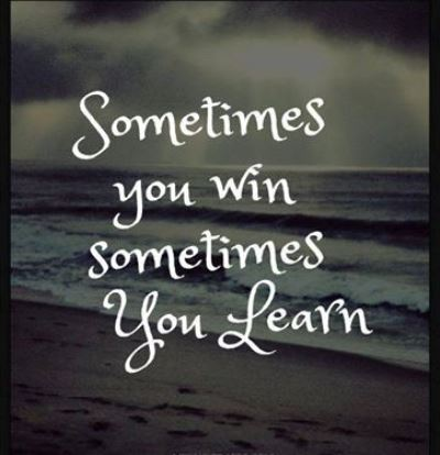 Wordless Wednesday 63 : Win & Learn