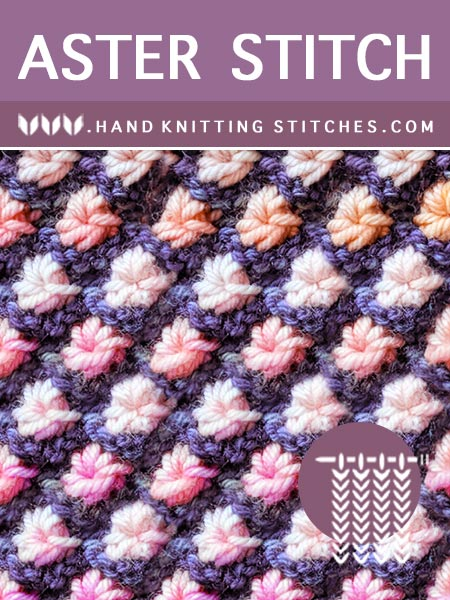 The Art of Hand Knitting - Aster Flower Pattern #handknitting