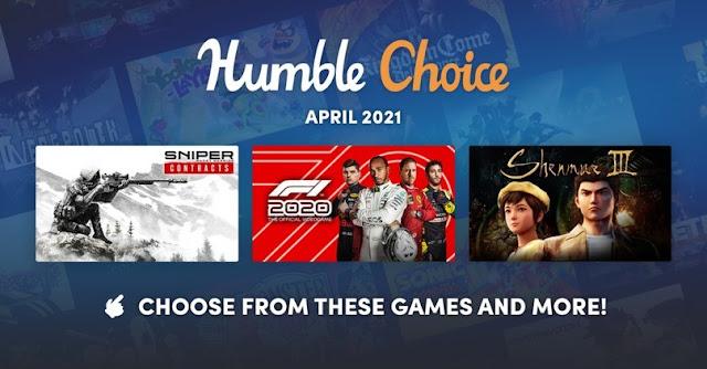 Humble Choice 2021 四月包,《莎木3》及11款遊戲可選擇