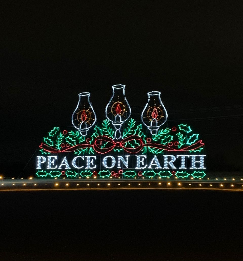 Peace on Earth light display at Franktown Festival of lights #ad