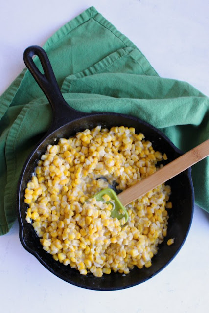 Skillet Corn with Parmesan Cheese