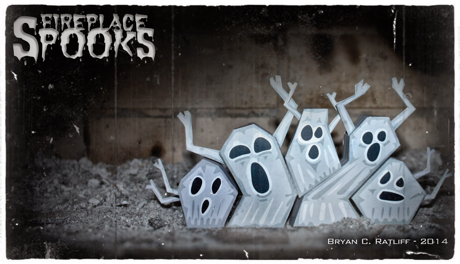 Fireplace Spooks Paper Toy