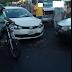 Carros colidem no centro de Cajazeiras nesta terça-feira