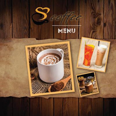 Download mẫu menu cafe file corel