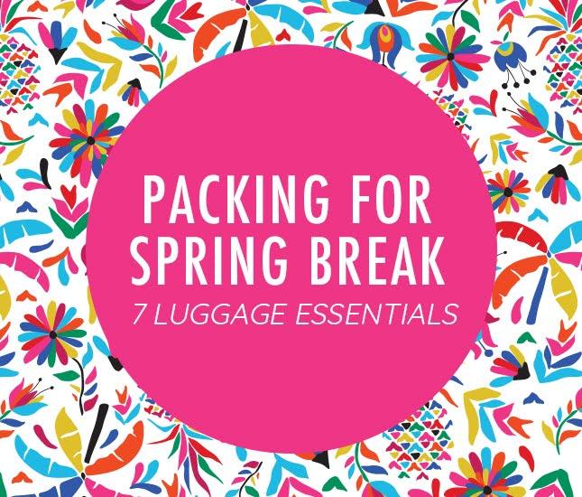 monogrammed spring break essentials