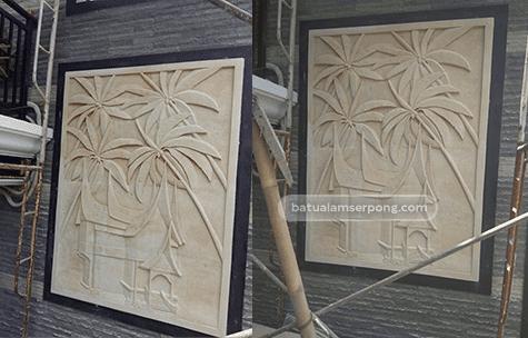 relief batu alam minimalis