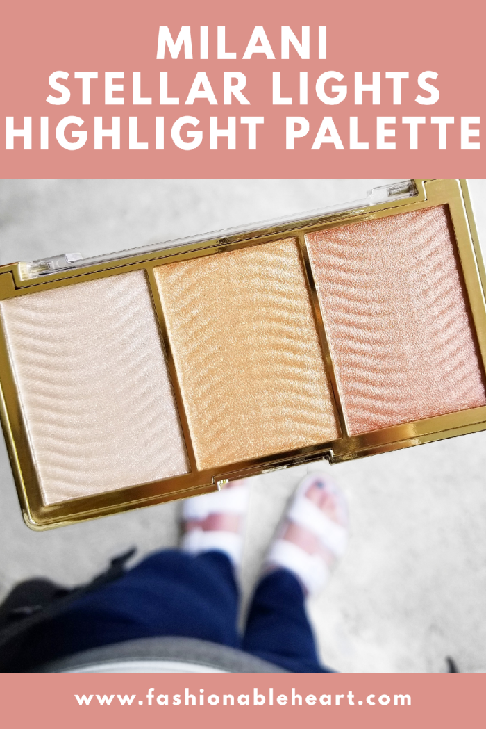 bblogger, bbloggers, bbloggerca, canadian beauty blogger, beauty blog, target, shoppers drug mart, milani, milani cosmetics, drugstore makeup, highlight, highlighter, palette, stellar lights, rose glow, fair skin, review, swatches, product review, glowing skin