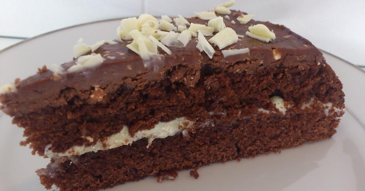 sjokoladekake med hvit sjokolade