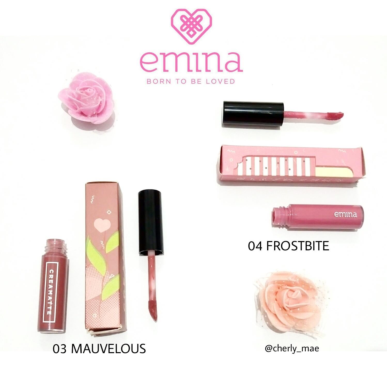 Review Emina Creamatte Mauvelous Dan Frostbite Cosmetics Cream Matte Lipstik Lipcream 03 Dari Ketujuh Shade Yang Ada Saya Memilih Dua Warna Yaitu No 04 Alasannya Kenapa Pemirsa Karena Suka Kalem Paling
