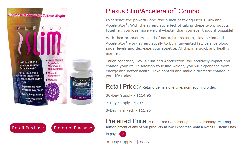 Plexus slim weight loss without accelerator