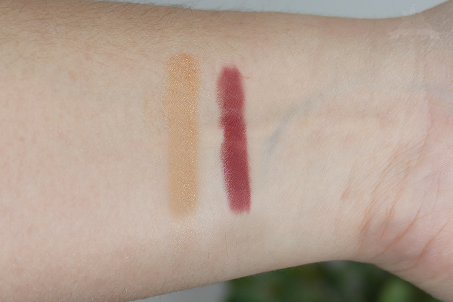 Mac Electric Wonder Lipstick Natural Born Leader & Highlighter Serenity Seeker Swatches
