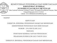SK Keputusan Kemdikbud Pelaksanaan KK 2013 dan Lampiran I, II, III, IV Se Indonesia