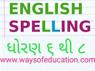 STD 6 TO 8  ENGLISH SPELLING PDF