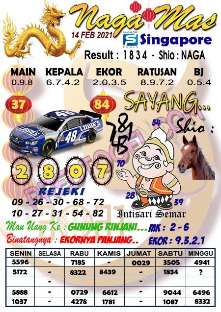Syair Sgp Nagamas Minggu 14 Februari 2021