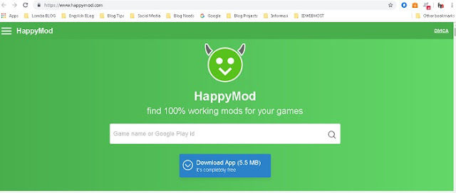 Website Happymod - Blog Mas Hendra