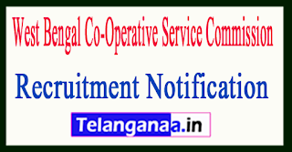 West Bengal Co-Operative Service Commission COOPWB Recruitment Notification 2017