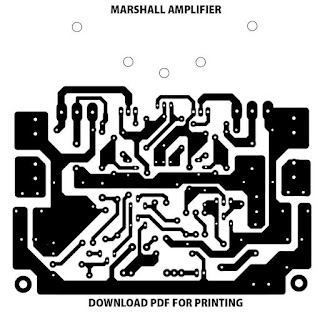 Marshal V.120PA Power Amplifier PCB Layout Guitar Amplifier