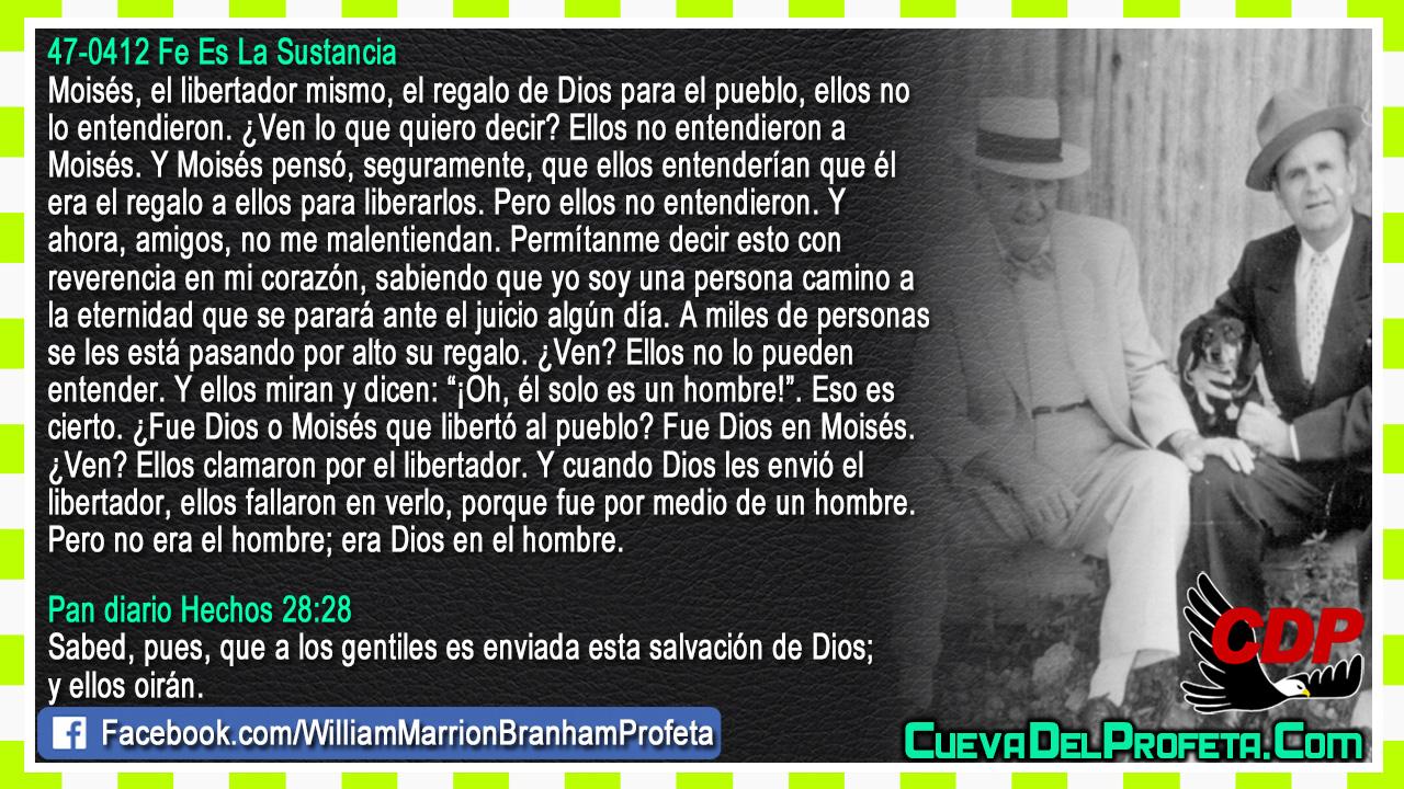No era el hombre era Dios en el hombre - William Branham en Español