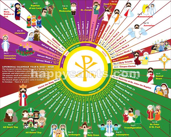 2018 calendar liturgical