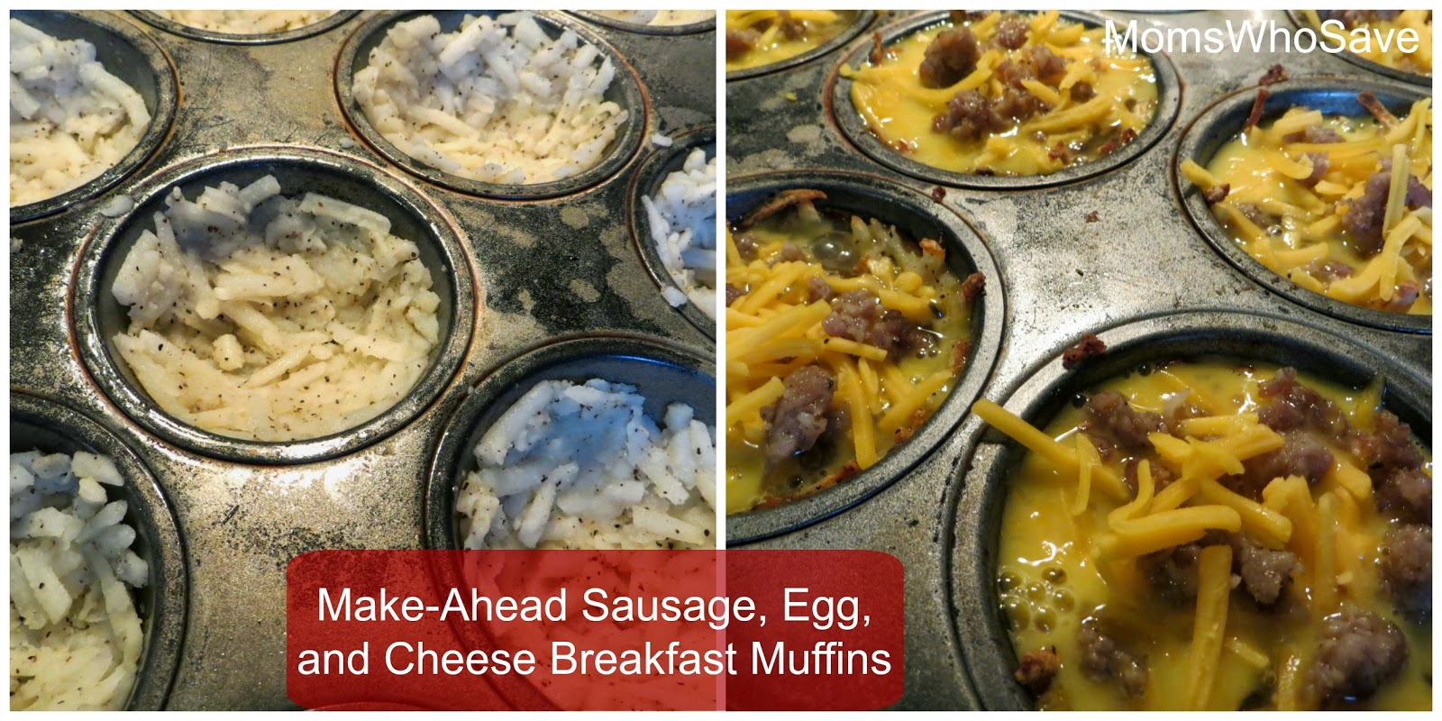 Make-Ahead Sausage, Egg, and Cheese Breakfast Muffins