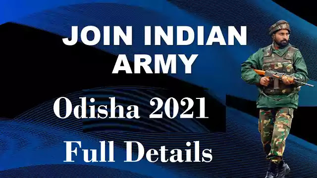 Join Indian Army Online Application 2021 Odisha