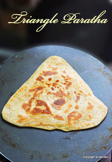 Triangle paratha, plain paratha