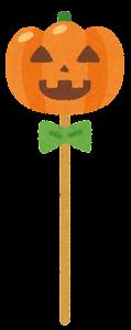 ハロウィンキャンディのイラスト(カボチャのランタン)