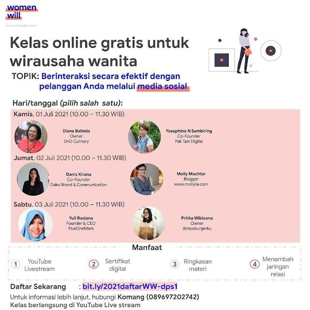Webinar GRATIS Kewirausahaan Nasional GOOGLE Women Will