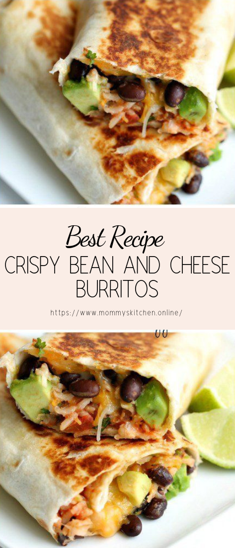 CRISPY BEAN AND CHEESE BURRITOS #healthyfood #dietketo