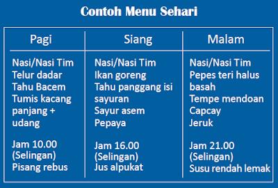 Contoh menu makanan sehat lansia