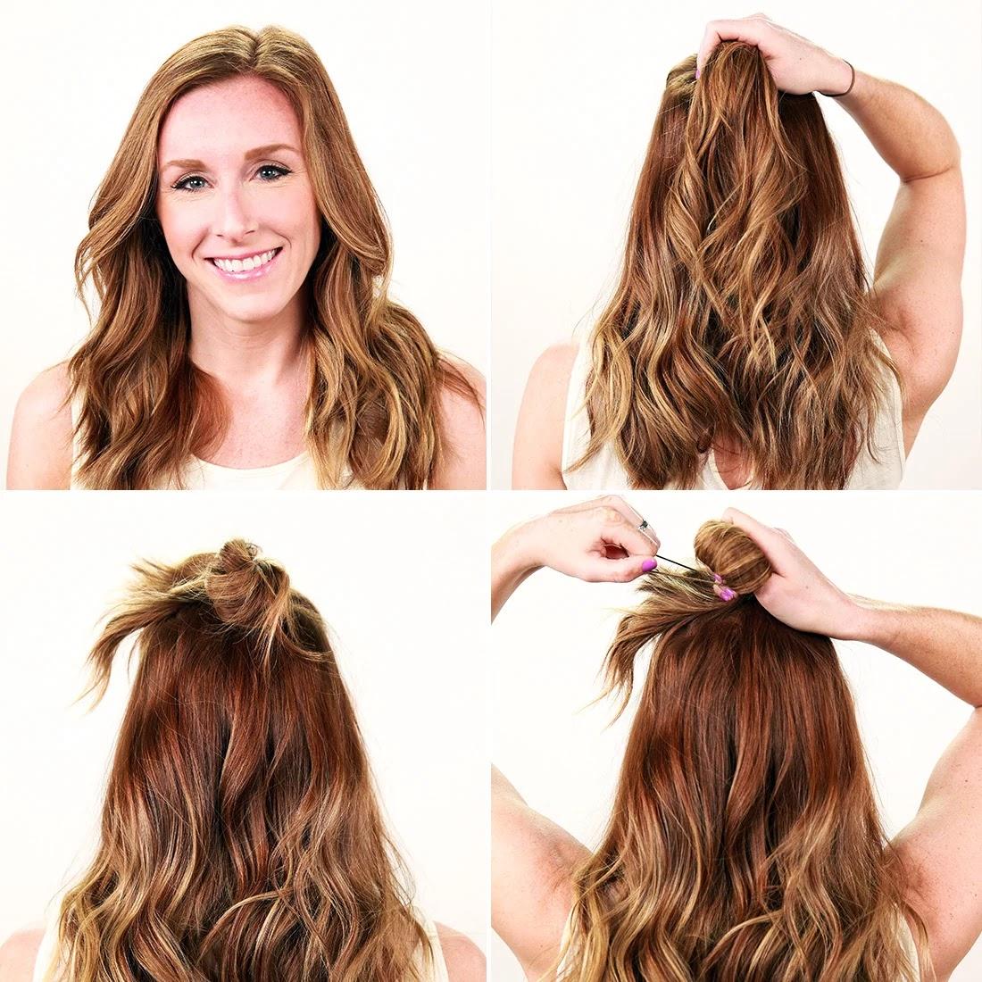 Half-Up Bun Hairstyle