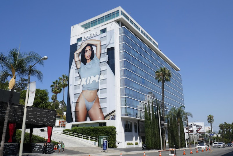 Giant Kim Kardashian West Skims billboard