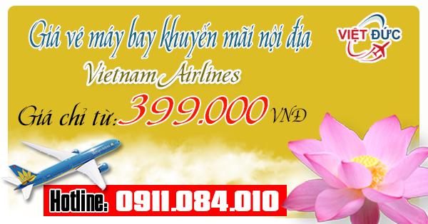 Giá vé khuyến mãi nội địa Vietnam Airlines mới nhất ngày 18/04/2017