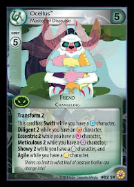 My Little Pony Ocellus, Master of Disguise Friends Forever CCG Card