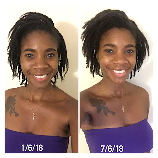 Locs with 2 strand twists 6 months locs