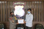 Turut Sukseskan Gerakan Sejuta Masker Polda Sulut, PT Indika Foundation Bantu 100.000 Masker Medis