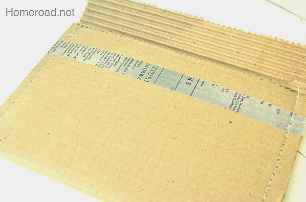 Brown cardboard packing envelope