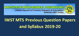IWST MTS Previous Question Papers and Syllabus 2019-20