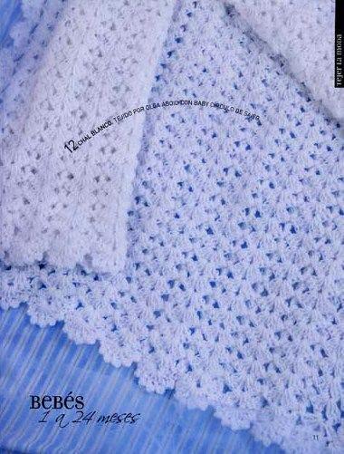 mantilla para bebe para tejer al crochet