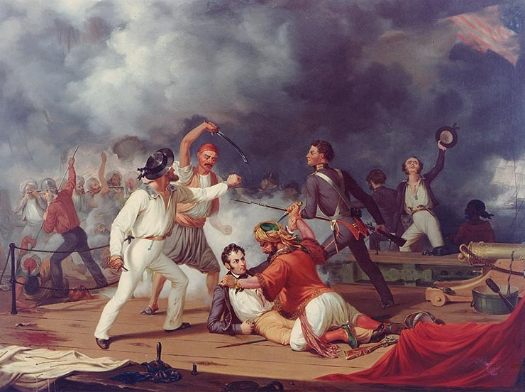 Art collector 20 artists imbedded at the battle of tripoli harbor kn10949g publicscrutiny Images