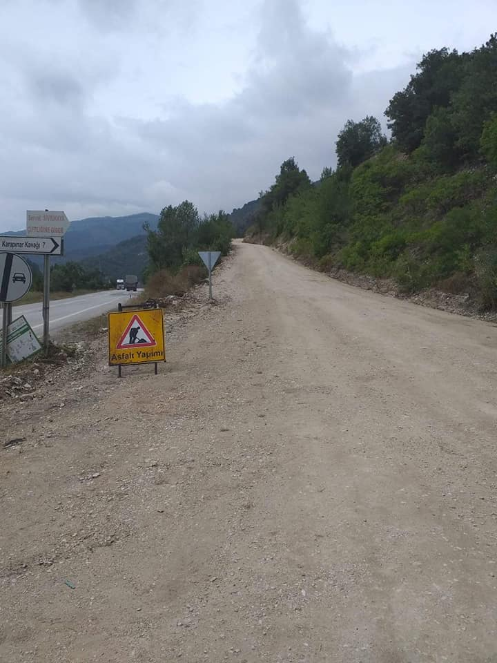 Mudurnu Köy Yolları Asfalt Çalışmaları